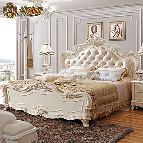 装修节诗雅轩家具 法式实木公主欧式床 双人床1.8米皮床特价  642