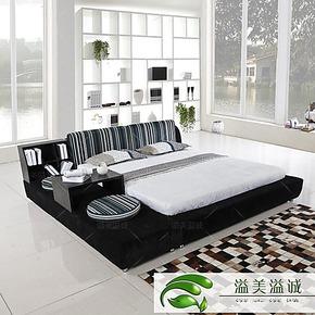 溢美溢诚可三包到家 榻榻米 布艺床 双人床 看一眼就知道是我喜欢