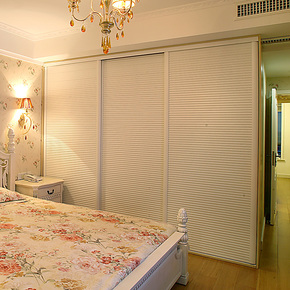 施尔福 定制宜家衣柜 白色移门衣柜门 推拉门整体衣柜 特价包物流