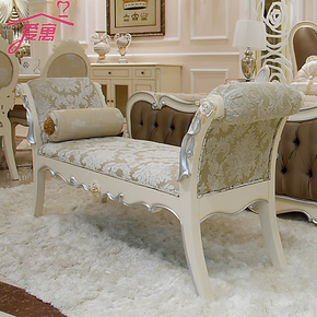 欧式家具 法式 床尾凳  新款田园手工 实木雕花 换鞋凳 特价 包邮
