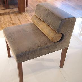 惠宜实木餐椅 宜家餐椅 现代时尚简约餐椅  水曲柳餐椅布面阿肥椅