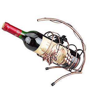 提藤酒架铁艺红酒架 欧式手提酒架 创意葡萄酒架 吧台酒架