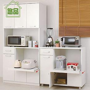 高低餐边柜组合 厨房特价收纳柜 简易储物柜 带门橱柜碗 悠品家具