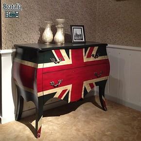 【Boatalia/泊加丽亚】美式乡村风格 彩绘家具 斗柜玄关柜餐边柜