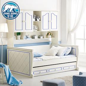 冬熊T1 包物流儿童家具床 子母床 组合床衣柜床 高低床 A616