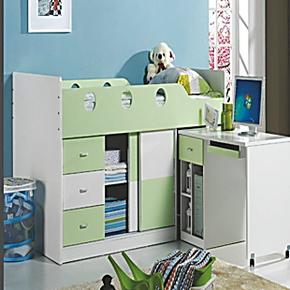 安歌里尔1.2米多功能组合床 带衣柜书台的儿童床 上下高低床