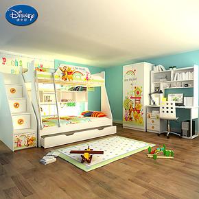 儿童床 迪士尼品牌家具 高低床 子母床 1.5米床双层 维尼拼拼乐园