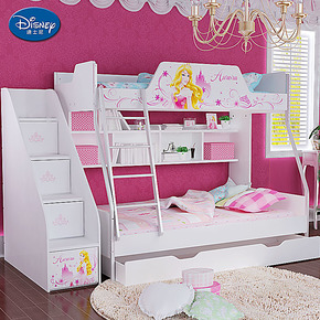 迪士尼 儿童床 公主床高低床双层床子母床 上下床 睡美人玫瑰人生