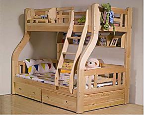 限时包邮秒杀松木儿童床实木床儿童上下床双层子母床高低床