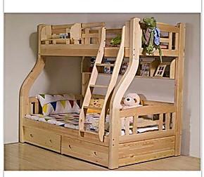松木儿童床实木上下床双层床双层床子母床高低床1.5双层床多功能