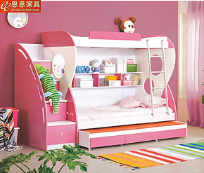 儿童床1米双层床 子母床 高低床上下铺家具套房 母子床 上下床