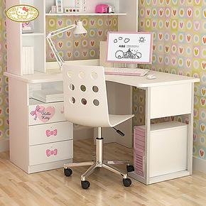 迪士尼儿童转角书桌 酷漫居简约台式家用学习桌子写字台实木颗粒