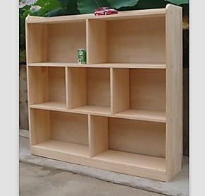 特价新款实木书柜 儿童书柜 储物柜 杉木松木书柜 书架玩具架