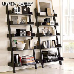 艾米尼奥家具正品 地中海美式乡村书房实木书架杂志架置物架 R03