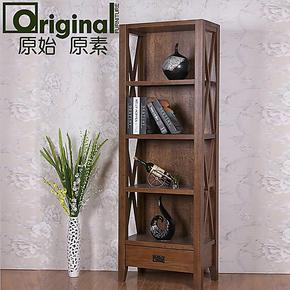 原始原素/欧式复古/白橡木实木家具/实木书柜书架/展示柜/高酒柜