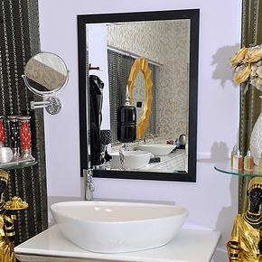 靓晶晶浴室镜子墙面洗脸镜边框卫生间镜子 简约现代洗手间卫浴镜