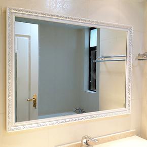 简约田园浴室镜子 欧式卫浴镜 装饰梳妆镜 美容镜挂镜DL-281