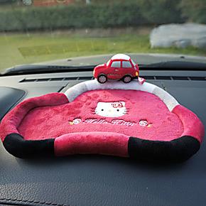 正品hello kitty汽车防滑垫 可爱卡通手机防滑垫 超大号置物盒