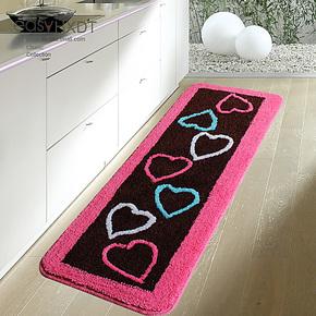 华旭特价 心心相印厨房防滑垫  推拉门垫 卧室地垫飘窗吸水垫