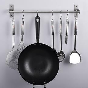 厨房置物架挂架 单杆 厨房挂件用品 进口304不锈钢挂杆 厨房必备