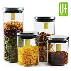 悠佳 宜家厨房储物罐 透明玻璃瓶收纳罐大号 密封罐奶粉罐茶叶罐