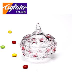 艾格莱雅水晶玻璃糖缸钻石糖罐储物罐装饰罐透明首饰糖果罐干果罐