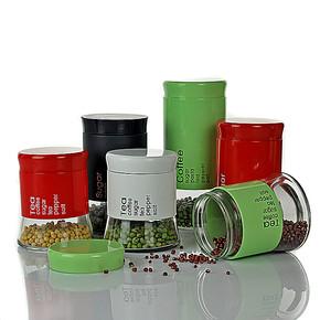Aisente玻璃储物罐 厨房收纳瓶子大小糖果干果食品奶粉罐 密封罐