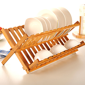 天竹滴水碗架 晾碗架盘子架厨房置物架 滤水架 碟子架 折叠沥水架
