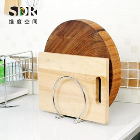 SDR双格砧板架 304不锈钢砧板架菜板架 不锈钢多功能厨房置物架子