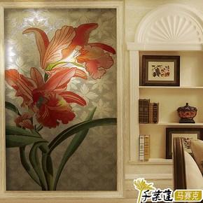 【千叶莲】冰玉水晶马赛克瓷砖剪拼图 餐厅玄关背景墙金银箔 虞香