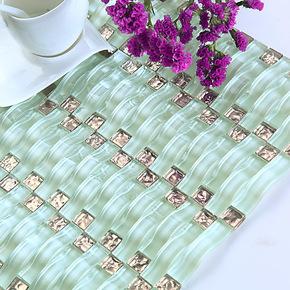 新款【尚槟榔】367拱形马赛克瓷砖镜面水晶玻璃拼图背景墙贴建材