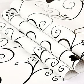 包邮加厚 田园风景清新淡雅 带立体压纹 PVC自粘墙纸客厅卧室壁纸