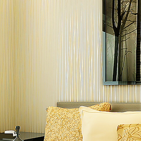 新巢 无纺布壁纸 现代简约竖条纹 植绒珠光线条 客厅卧室背景墙纸