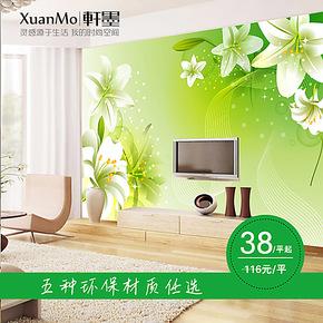 轩墨 大型壁画客厅卧室浪漫温馨壁纸电视影视墙背景墙纸 自贴包邮