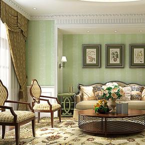 歌诗雅墙纸 客厅卧室满铺 欧式现代简约竖条纹环保无纺布壁纸 145