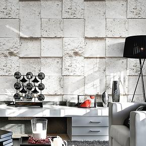 【装修节】pvc墙纸 欧式复古仿古砖墙纸 客厅电视背景墙壁纸