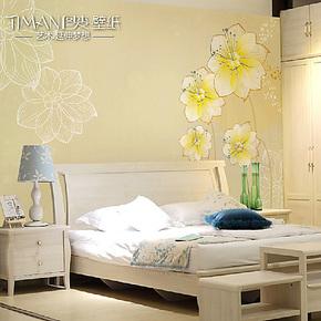 图麦大型壁画 温馨卧室客厅电视背景墙纸壁纸特价现代简约 花儿美