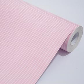 余美PVC自粘墙纸 粉色条纹客厅卧室壁纸 家具翻新贴Y1052