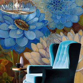 米素大型壁画 温馨卧室电视背景墙纸壁纸 欧式影视墙墙纸 花生花