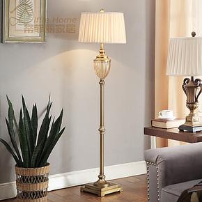 5折 水晶欧式落地灯 现代简约创意时尚 美式宜家客厅书房卧室地灯
