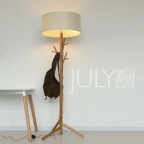 JULY就来 设计师款北欧宜家创意原木实木创意落地灯森之树落地灯