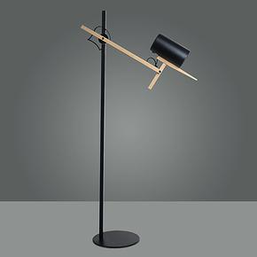 乐灯 灯具灯饰简约时尚 原木铝材活动落地灯 书房卧室灯