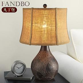 凡丁堡 欧式台灯 美式台灯 卧室床头台灯 渔家古典装饰台灯 094