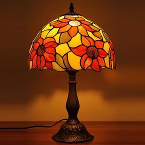 欧式蒂凡尼创意田园向日葵卧室床头台灯新婚礼品公主房台灯1268T
