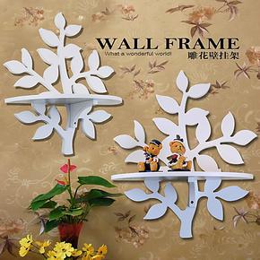 单个价格包邮创意田园叶子烤漆装饰隔板墙上置物架壁挂架CD架墙架