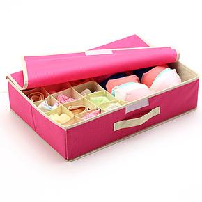 友纳 无纺布内衣内裤收纳盒 韩国有盖文胸盒子 袜子收纳箱储物盒