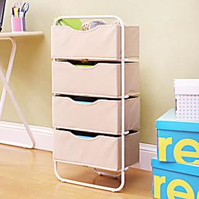 潮土四层抽屉卧室收纳柜 客厅玩具储物柜子收纳箱6省包邮
