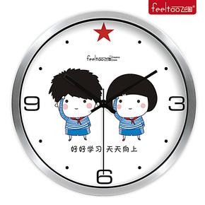 飞淘正品 创意卡通可爱挂钟 儿童房卧室超静音挂表 艺术客厅钟表