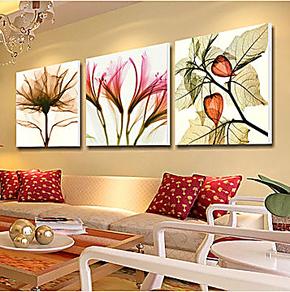 客厅装饰画 现代简约 壁画 卧室装饰 无框画 三联墙画餐厅挂画