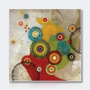 天画抽象装饰画简约墙画电表配电箱有框画办公室现代挂画玄关壁画